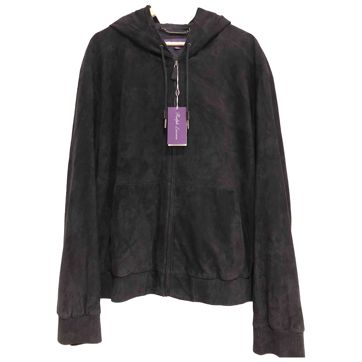 Ralph Lauren Purple Label \N Jacke in  Marine Veloursleder