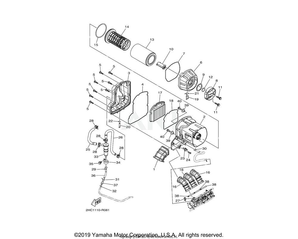 Yamaha OEM 2HC-E4467-00-00 SEAL
