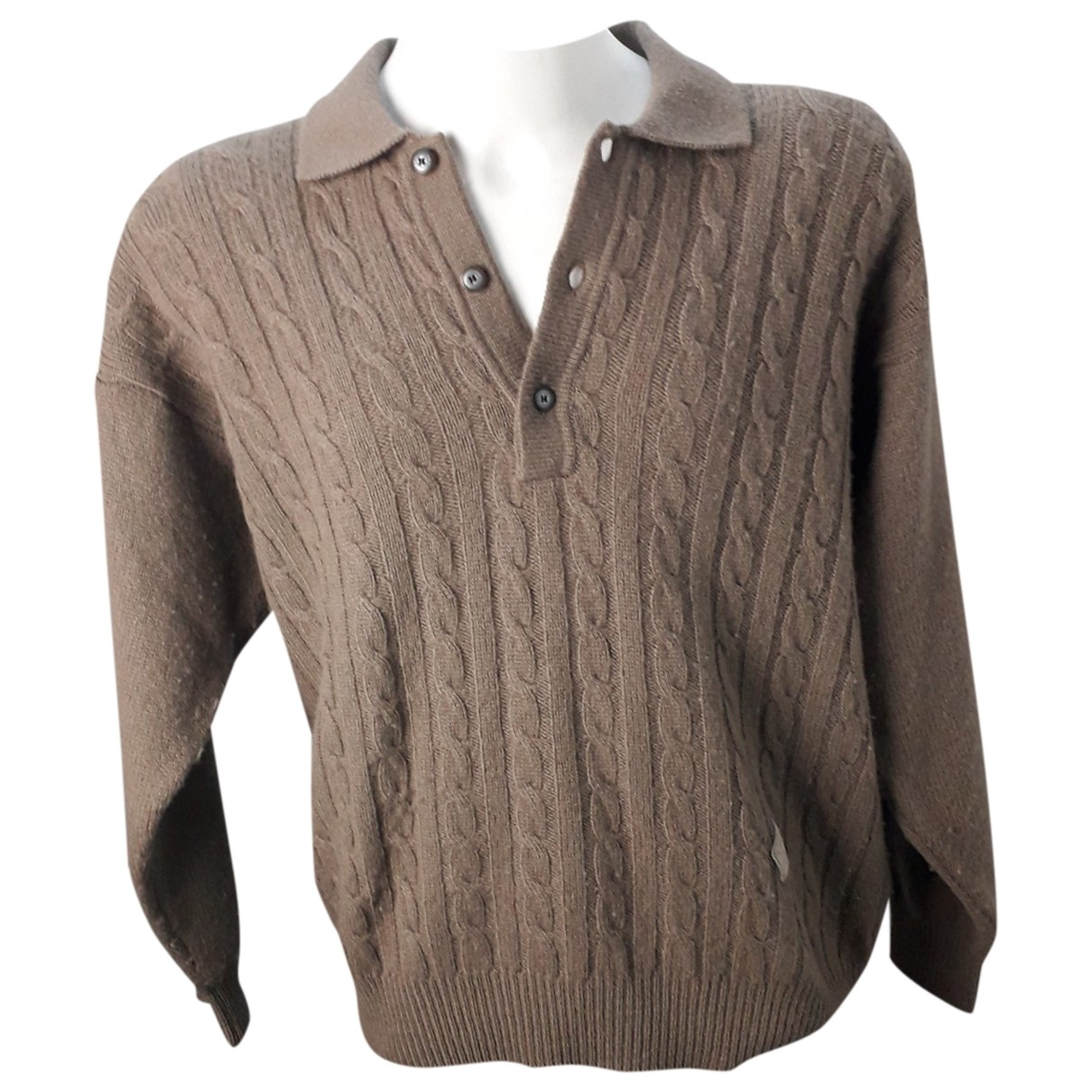 Yves Saint Laurent \N Pullover.Westen.Sweatshirts  in  Braun Wolle