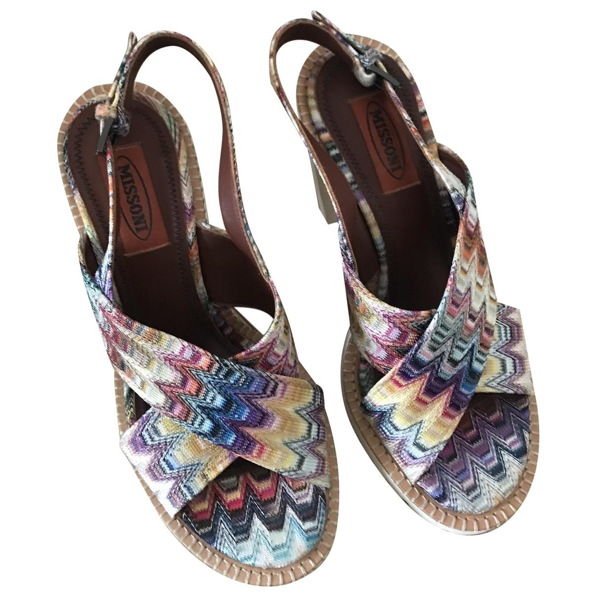 Missoni N Multicolour Cloth Sandals for Women 37 EU