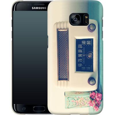 Samsung Galaxy S7 Edge Smartphone Huelle - Retro Radio von Joy StClaire