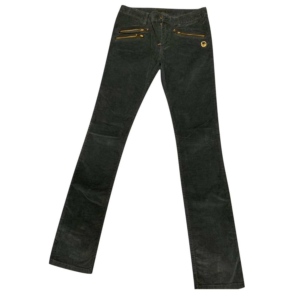 Zadig & Voltaire \N Blue Velvet Trousers for Women 38 FR