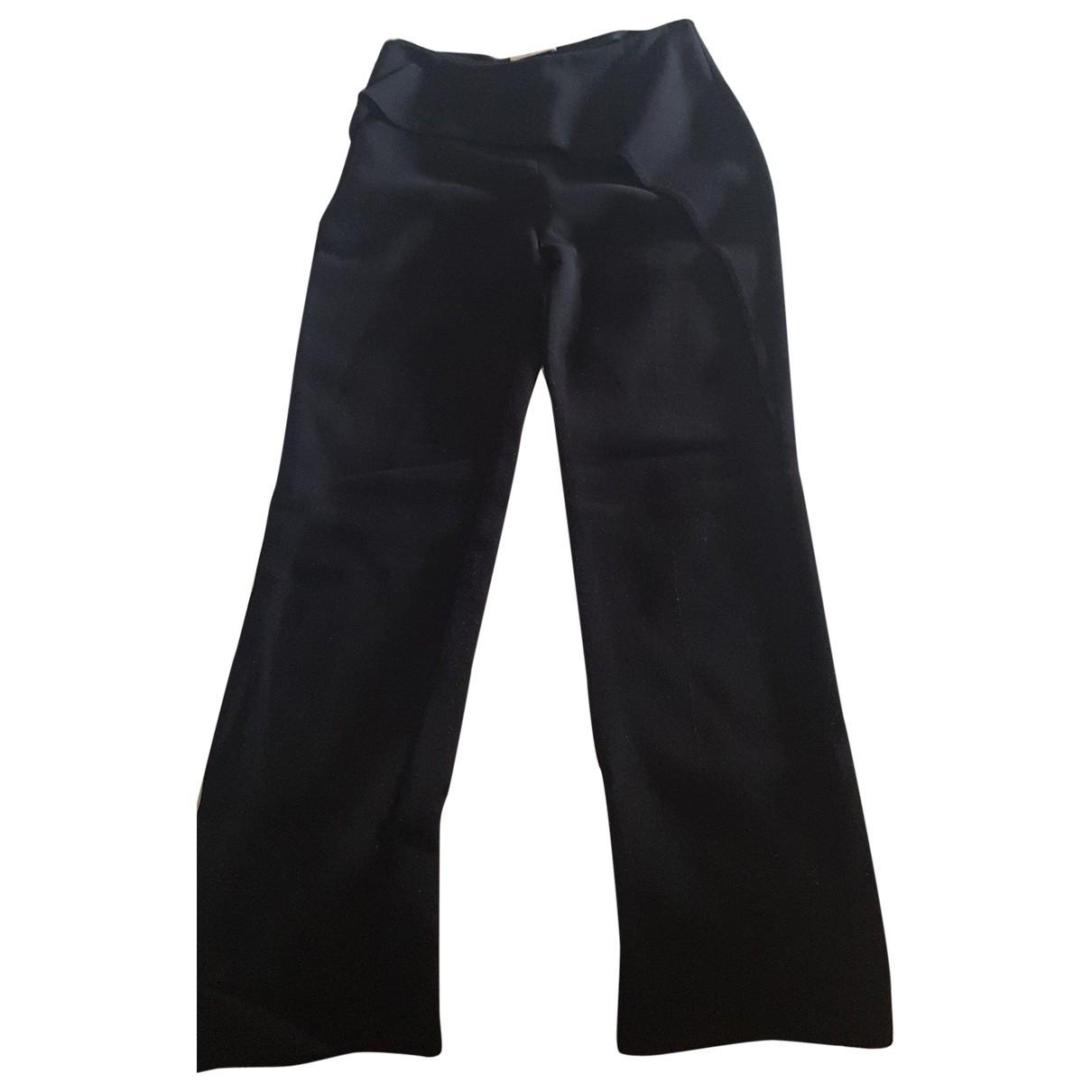 Balenciaga N Black Cotton Trousers for Women 38 FR