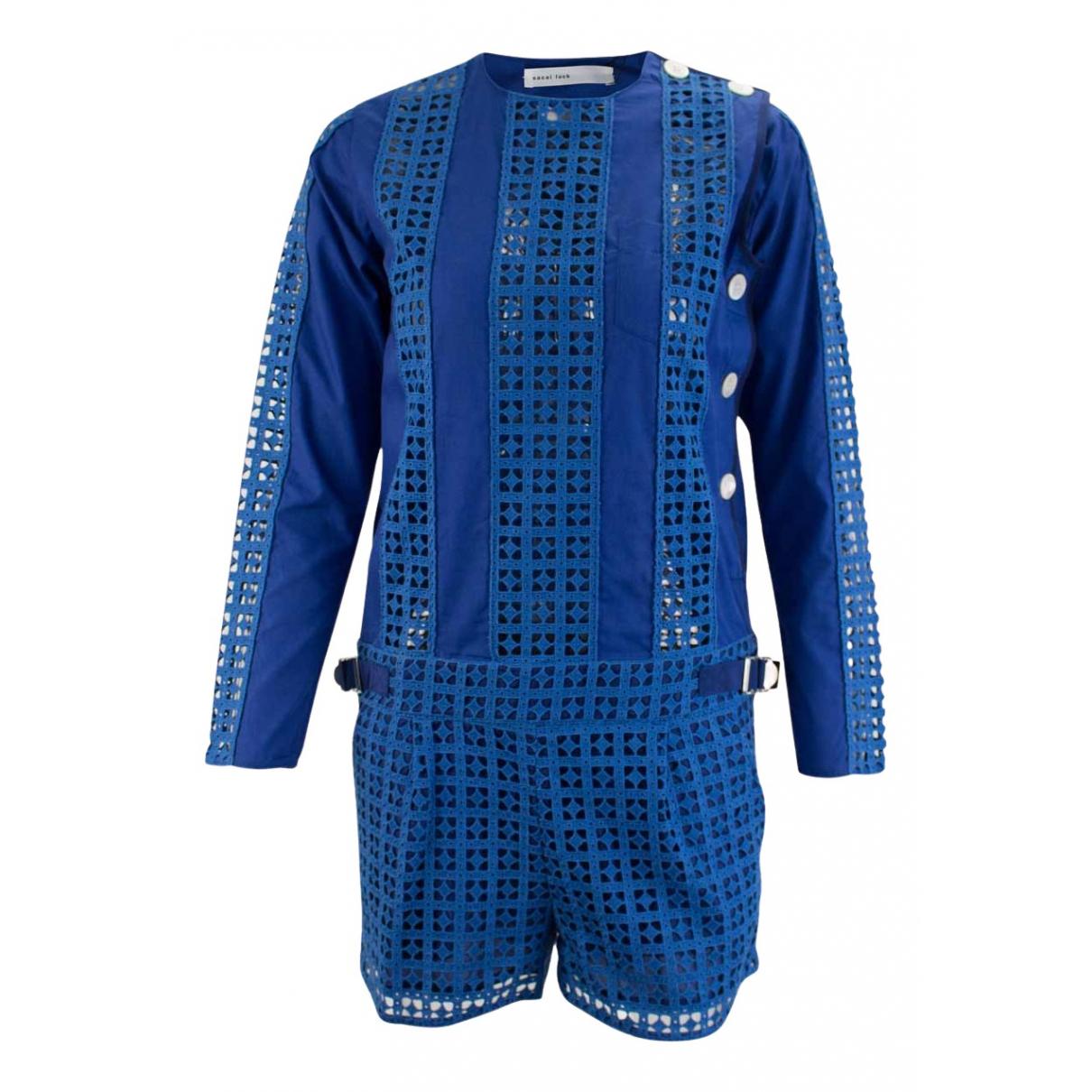 Sacai Luck - Robe   pour femme en coton - bleu