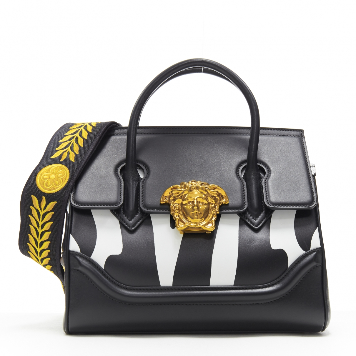 Versace Palazzo Empire Black Leather handbag for Women \N