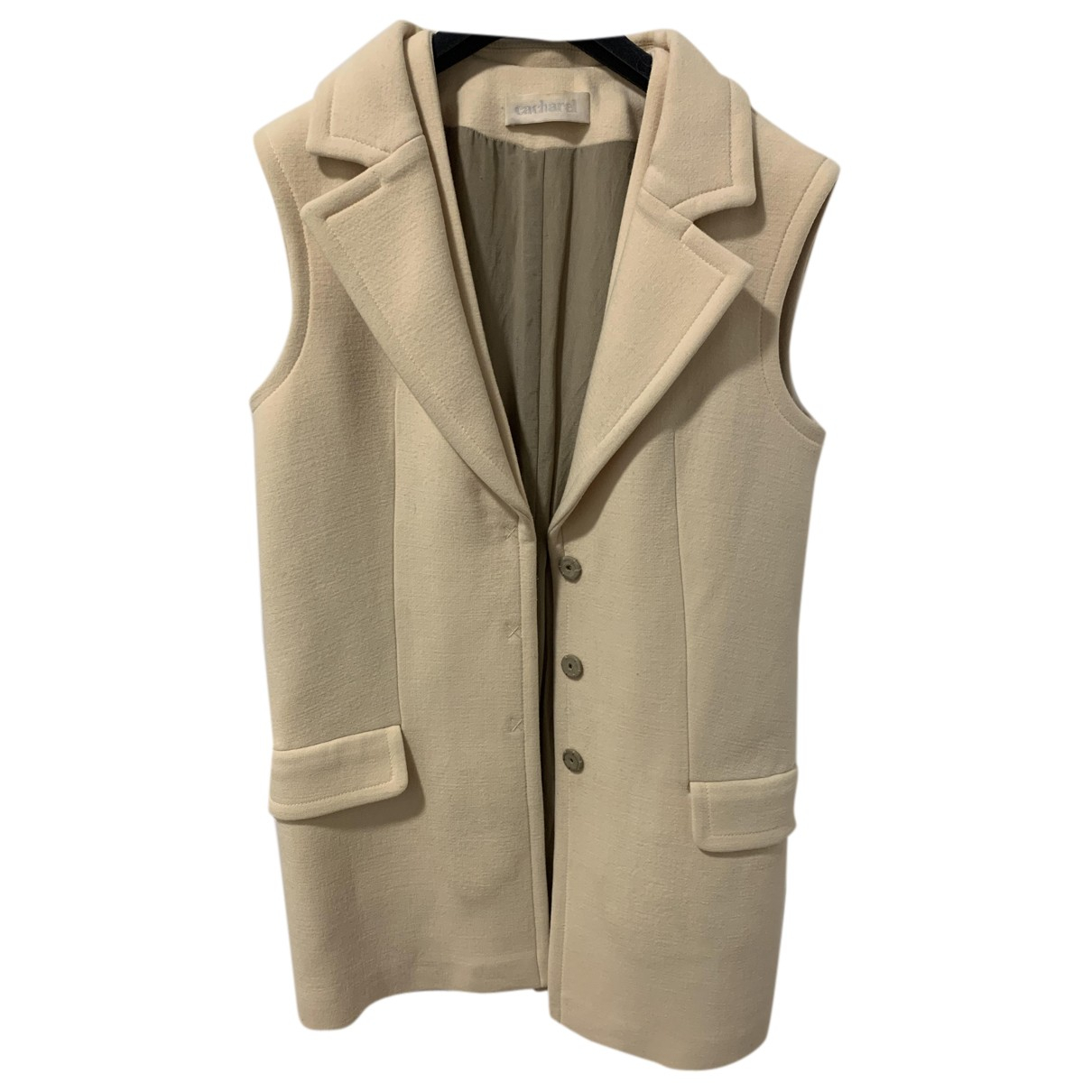 Cacharel N Beige Wool jacket for Women 40 IT