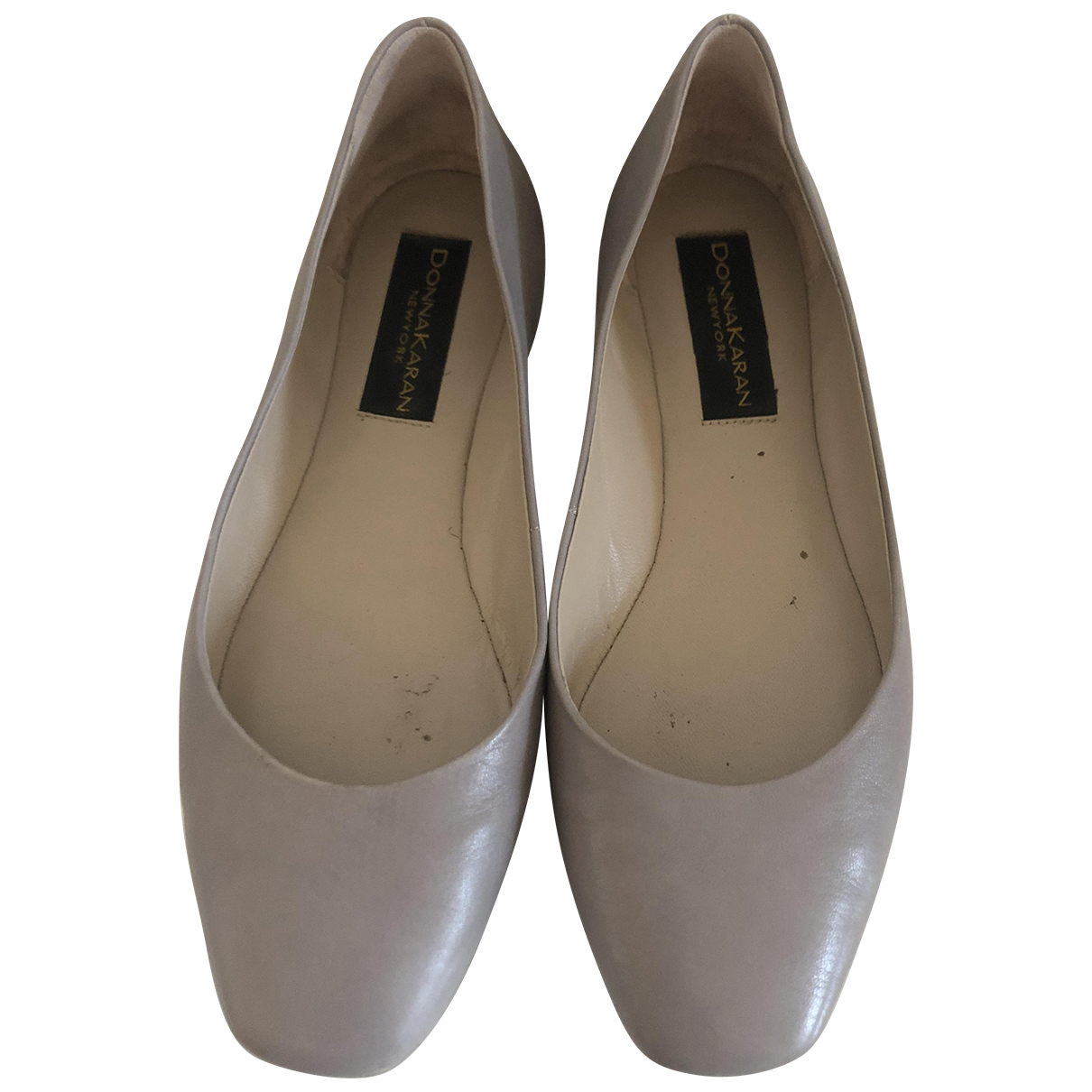 Donna Karan \N Ballerinas in  Grau Leder