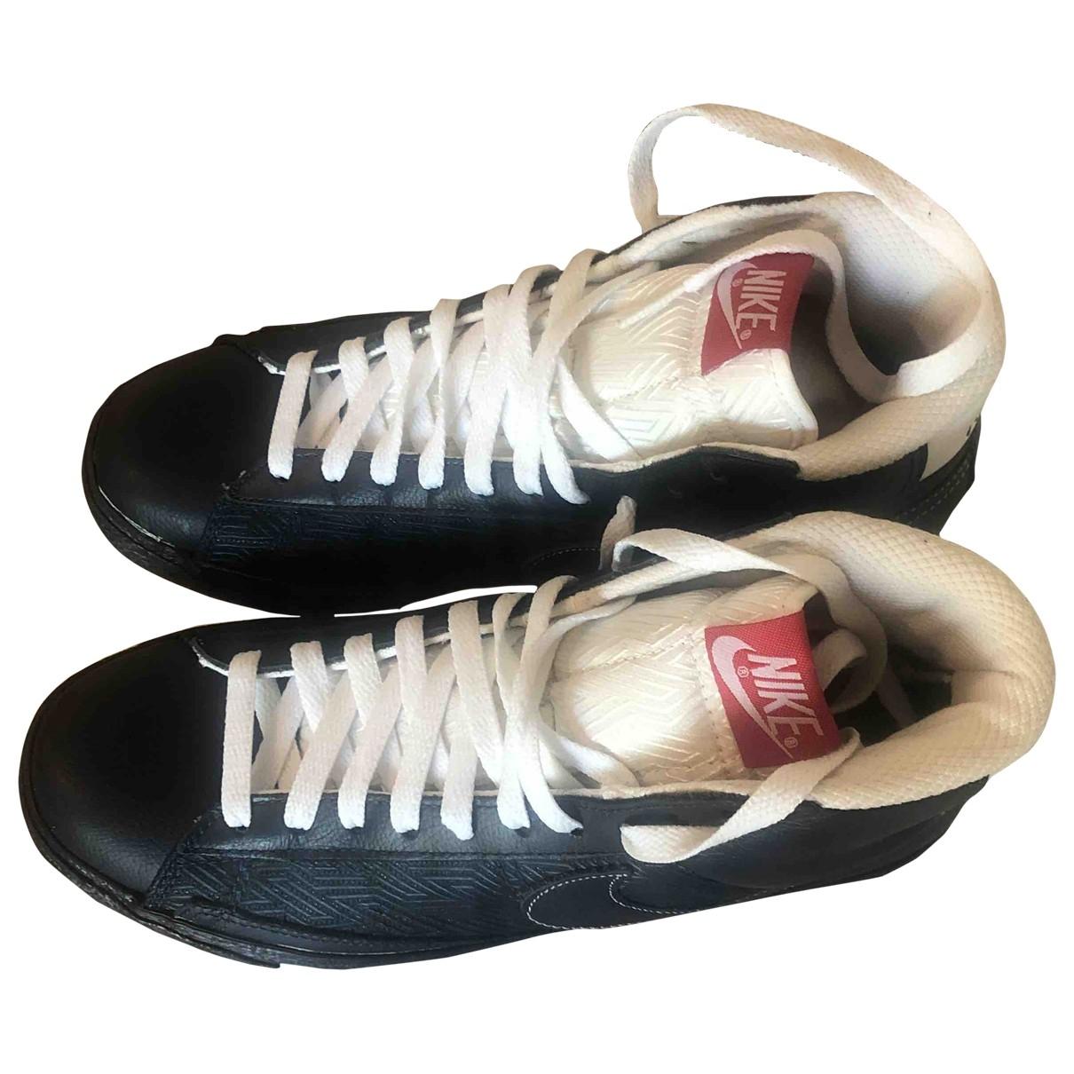 Nike Blazer Black Leather Trainers for Men 41 EU