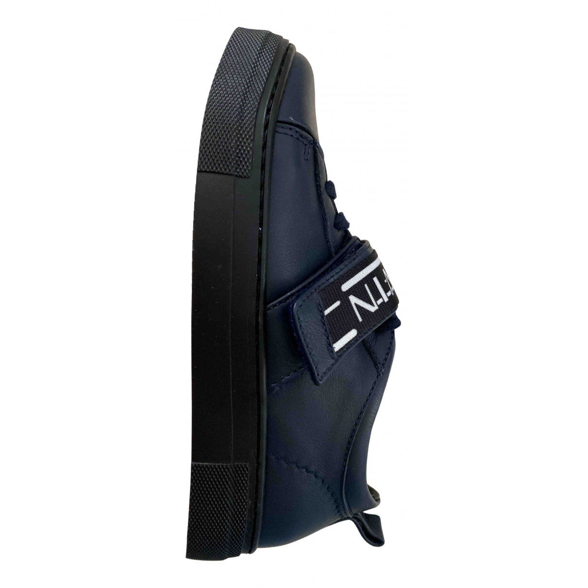 Lanvin \N Blue Leather Trainers for Kids 33 FR