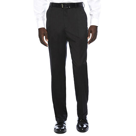 Stafford Travel Wool Blend Stretch Classic Fit Suit Pants, 42 29, Black