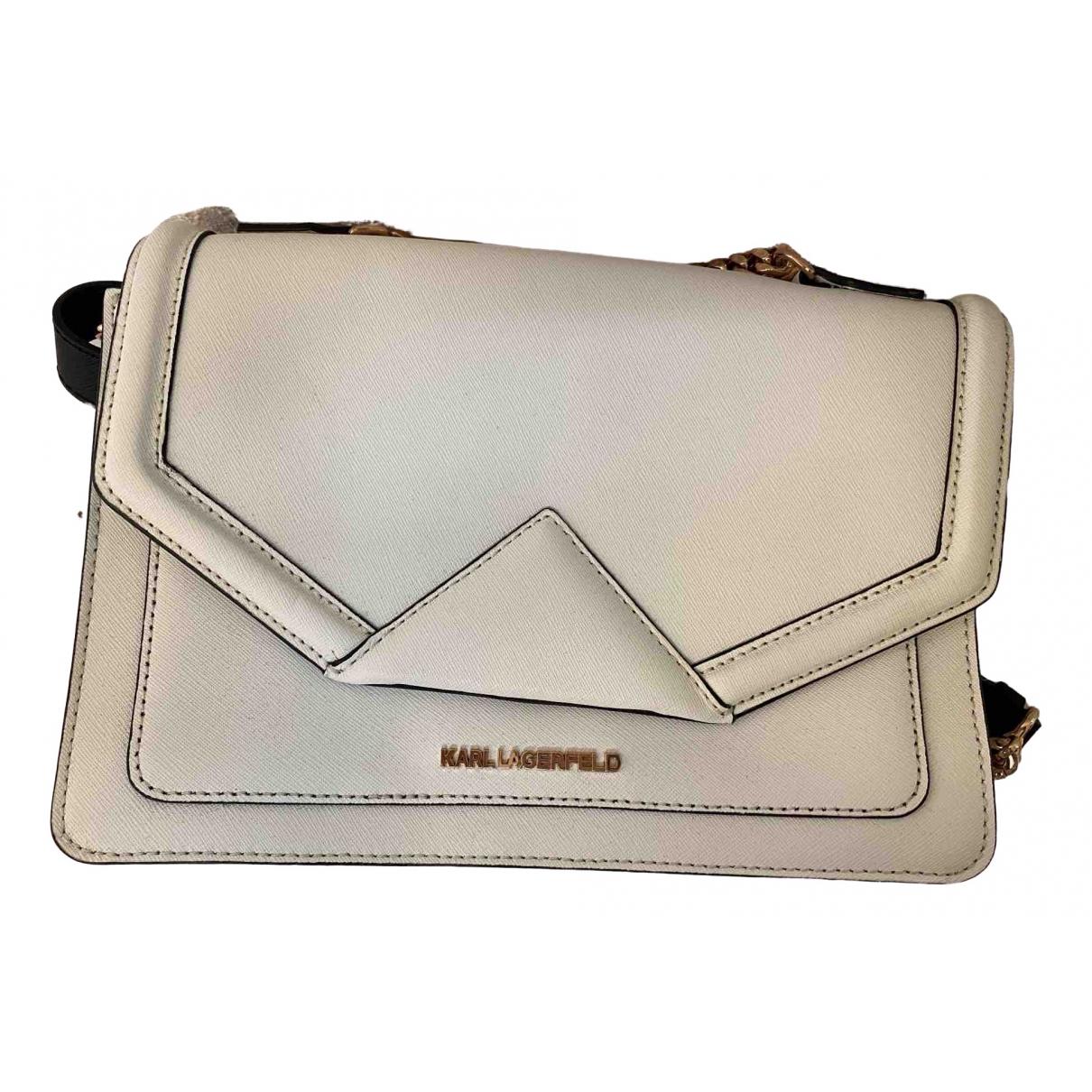 Karl \N White Leather handbag for Women \N