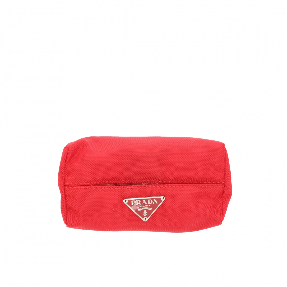 Prada - Petite maroquinerie Tessuto  pour femme en toile - rouge