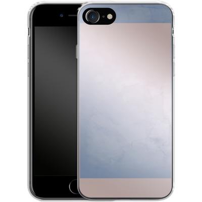 Apple iPhone 7 Silikon Handyhuelle - Serenity Rose Quartz Geometry von Emanuela Carratoni