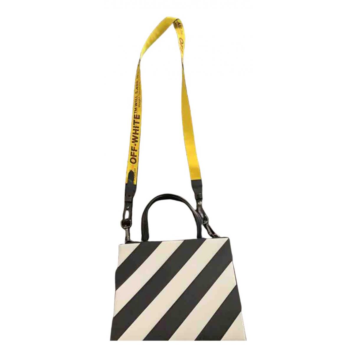 Off-white \N Handtasche in  Schwarz Leder