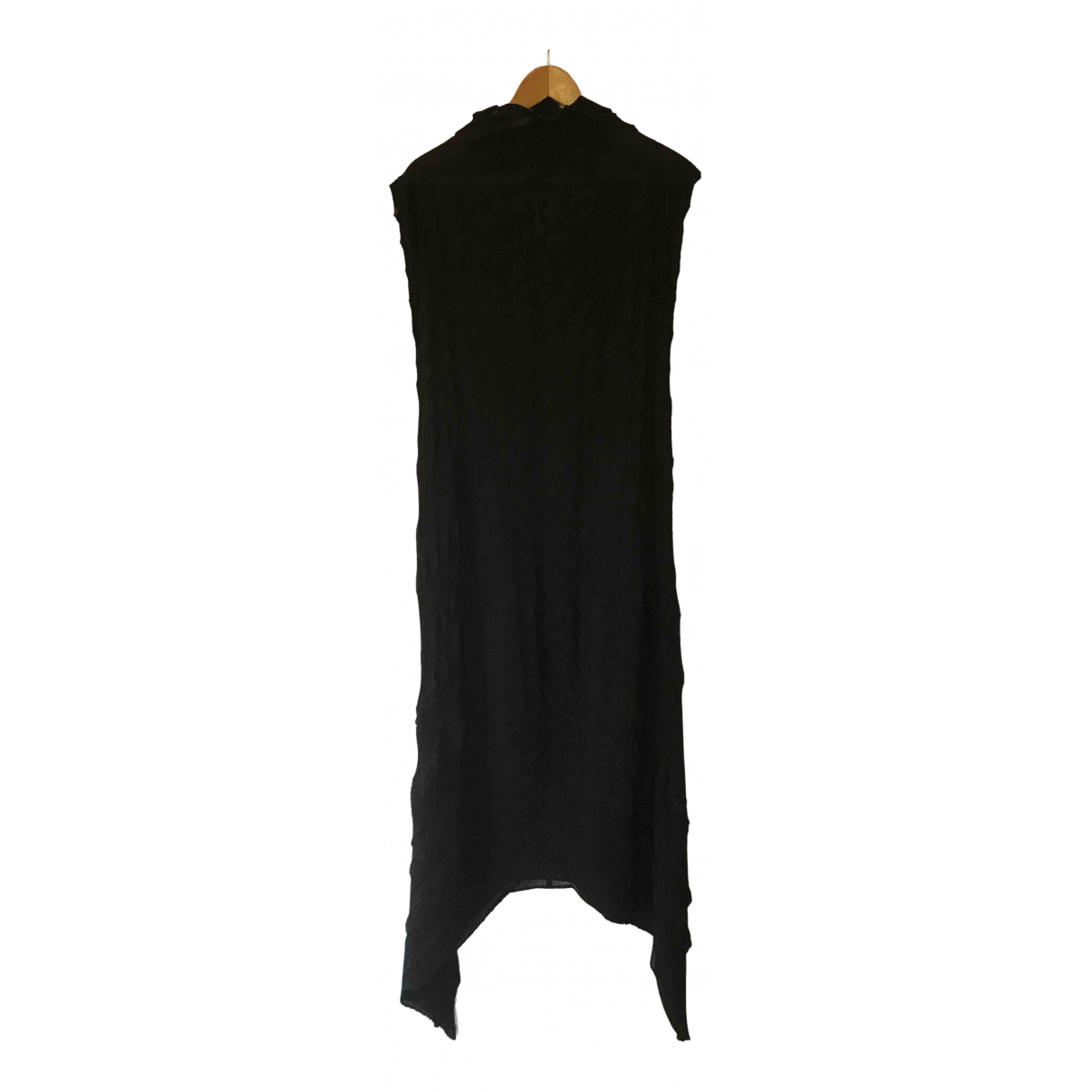 Issey Miyake \N Kleid in  Schwarz Polyester