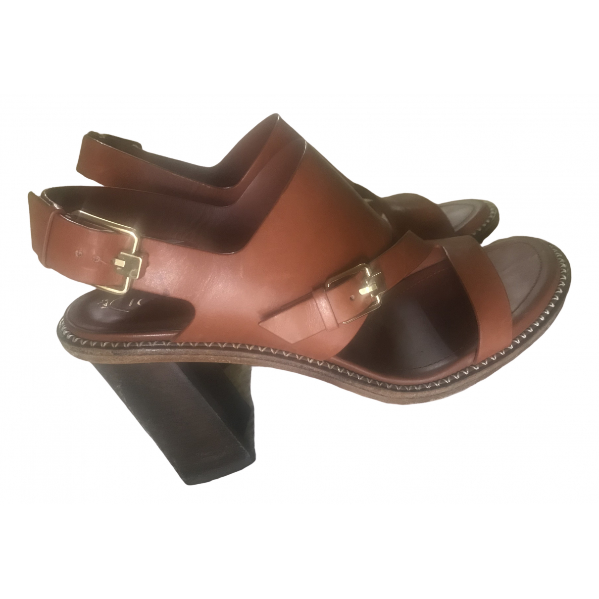 Tod's \N Camel Leather Sandals for Women 39 EU