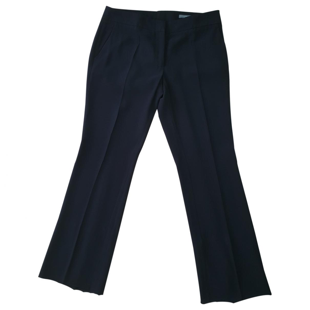 Alexander Mcqueen \N Black Trousers for Women 40 IT