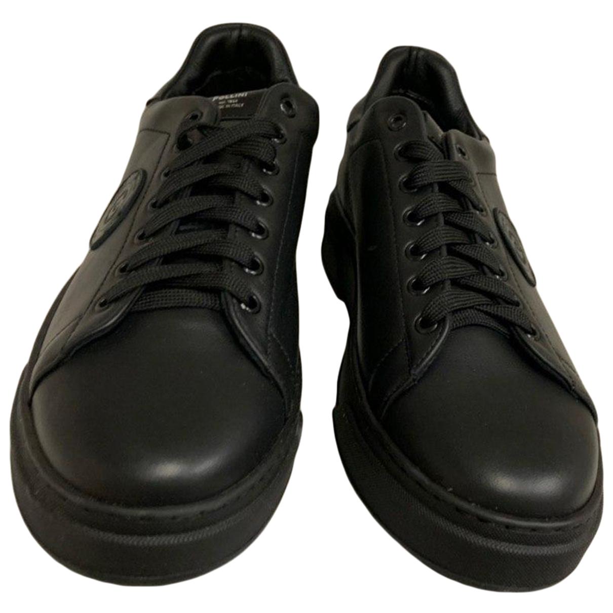 Pollini \N Sneakers in  Schwarz Leder