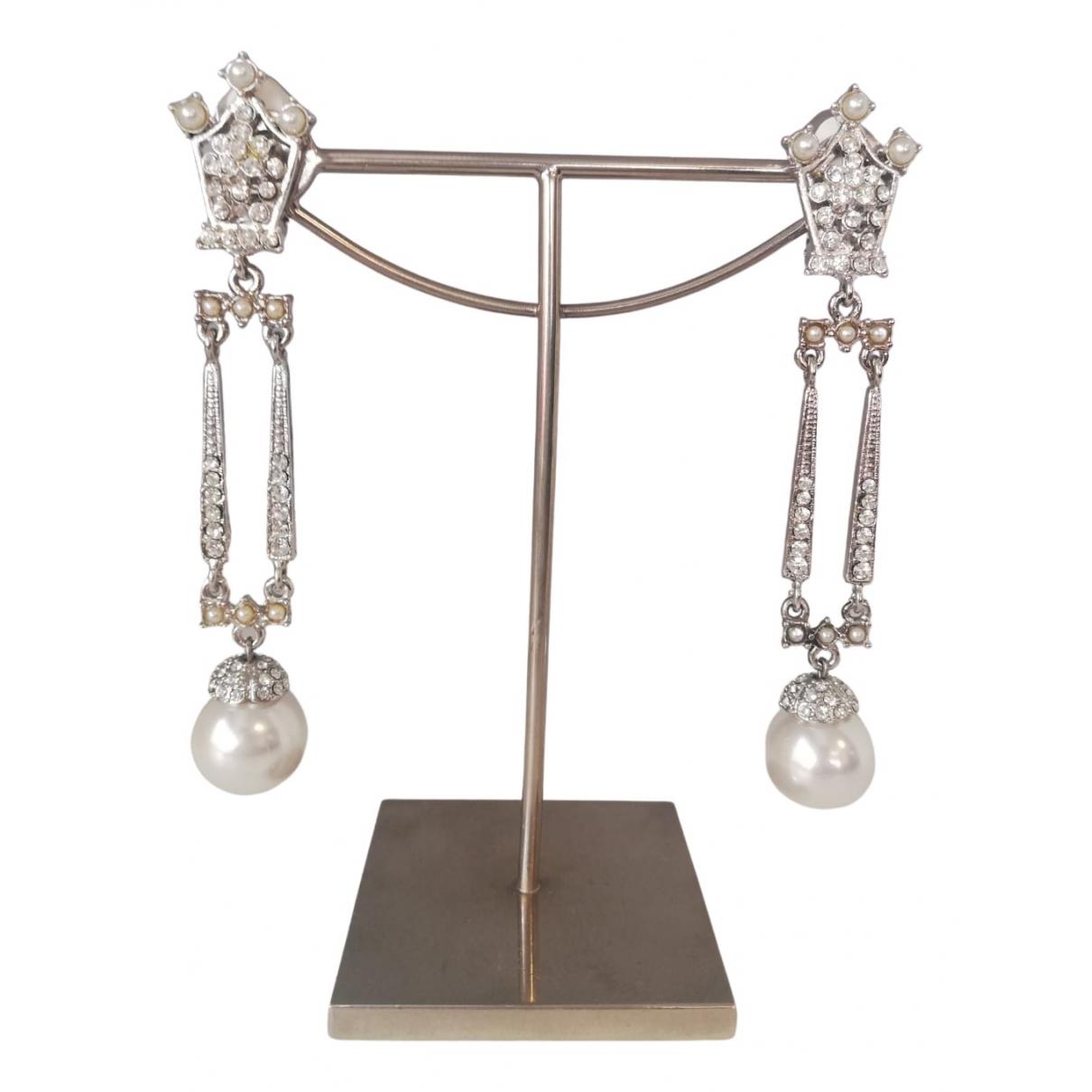 Carlo Zini - Boucles doreilles   pour femme en metal - argente