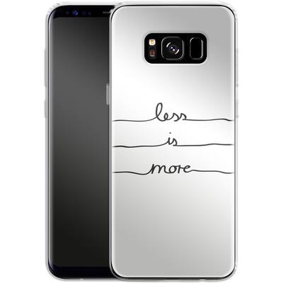 Samsung Galaxy S8 Silikon Handyhuelle - Less Is More von Mareike Bohmer