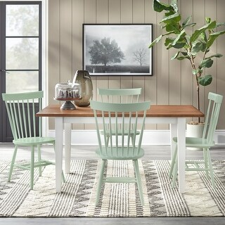 Simple Living Mayview 5-piece Dining Set (Driftwood/Mint)