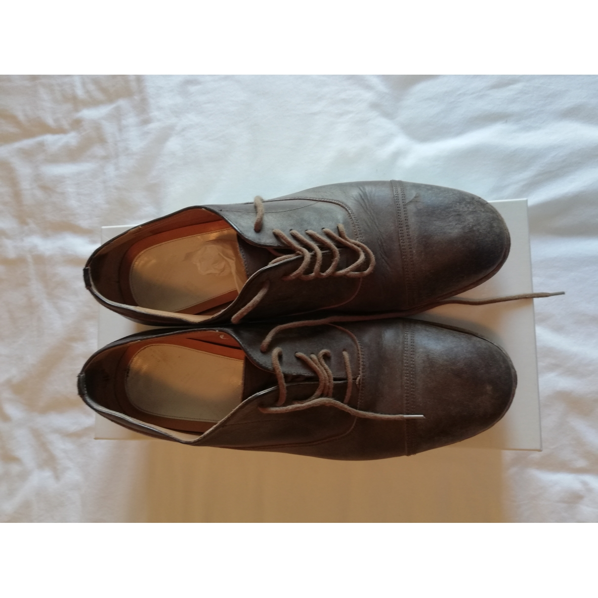 Maison Martin Margiela \N Brown Leather Lace ups for Men 42 EU