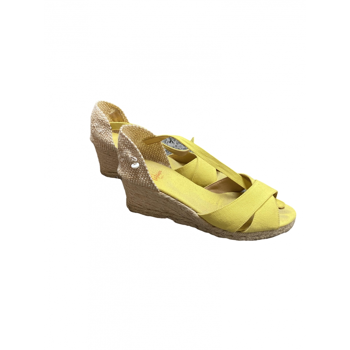 Castaner \N Yellow Leather Sandals for Women 39 EU