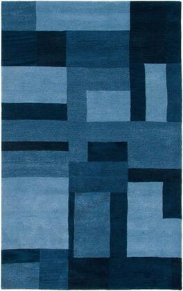 COLCL281900090508 Colours CL2819-5' x 8' Hand-Tufted New Zealand Wool Blend Rug in Blue  Rectangle