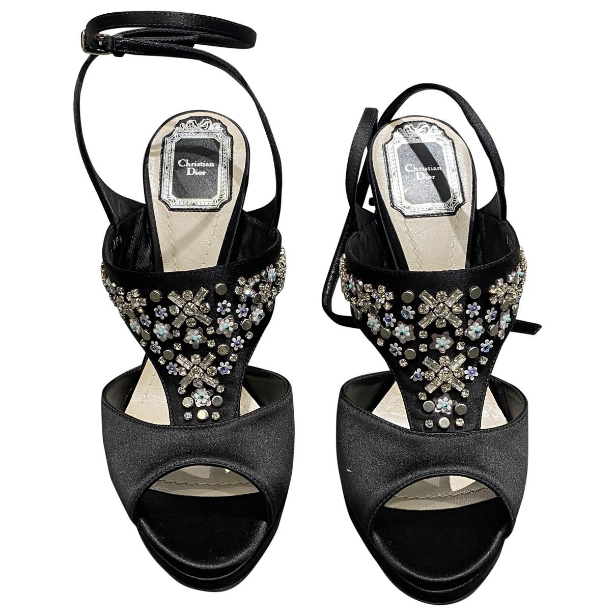 Dior \N Black Suede Heels for Women 38.5 EU