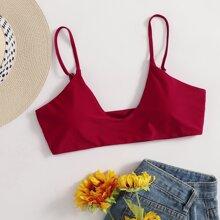 Solid Cami Bikini Top