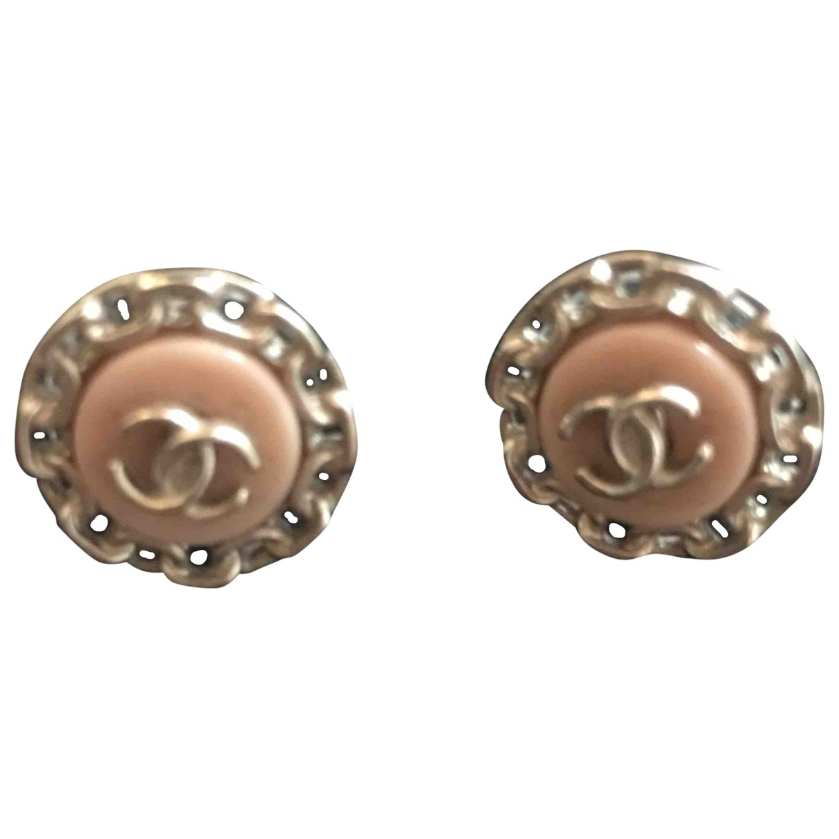 Chanel CC OhrRing in  Rosa Metall