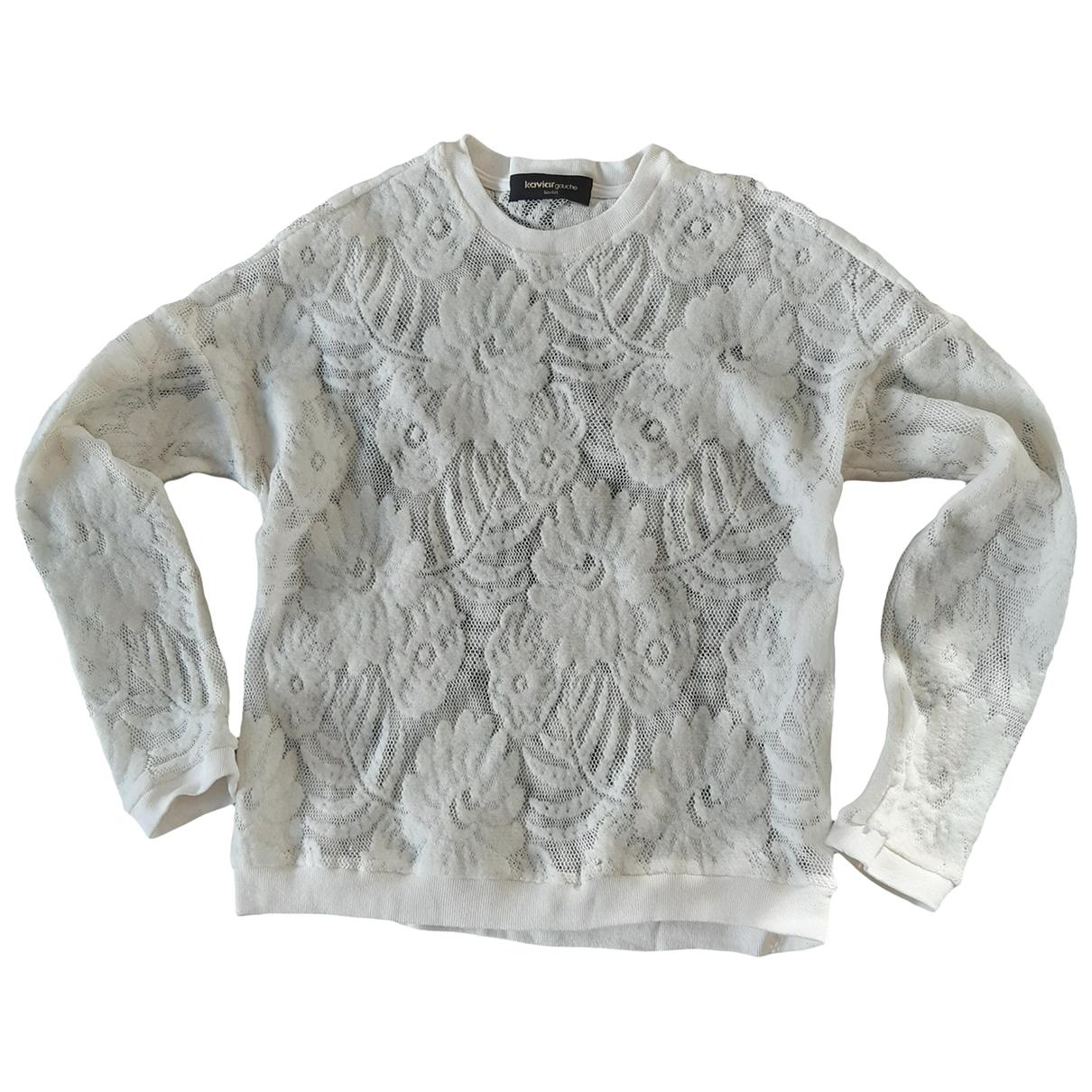 Kaviar Gauche - Pull   pour femme en laine - ecru