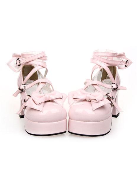 Milanoo Bows Decor Lolita High Heels