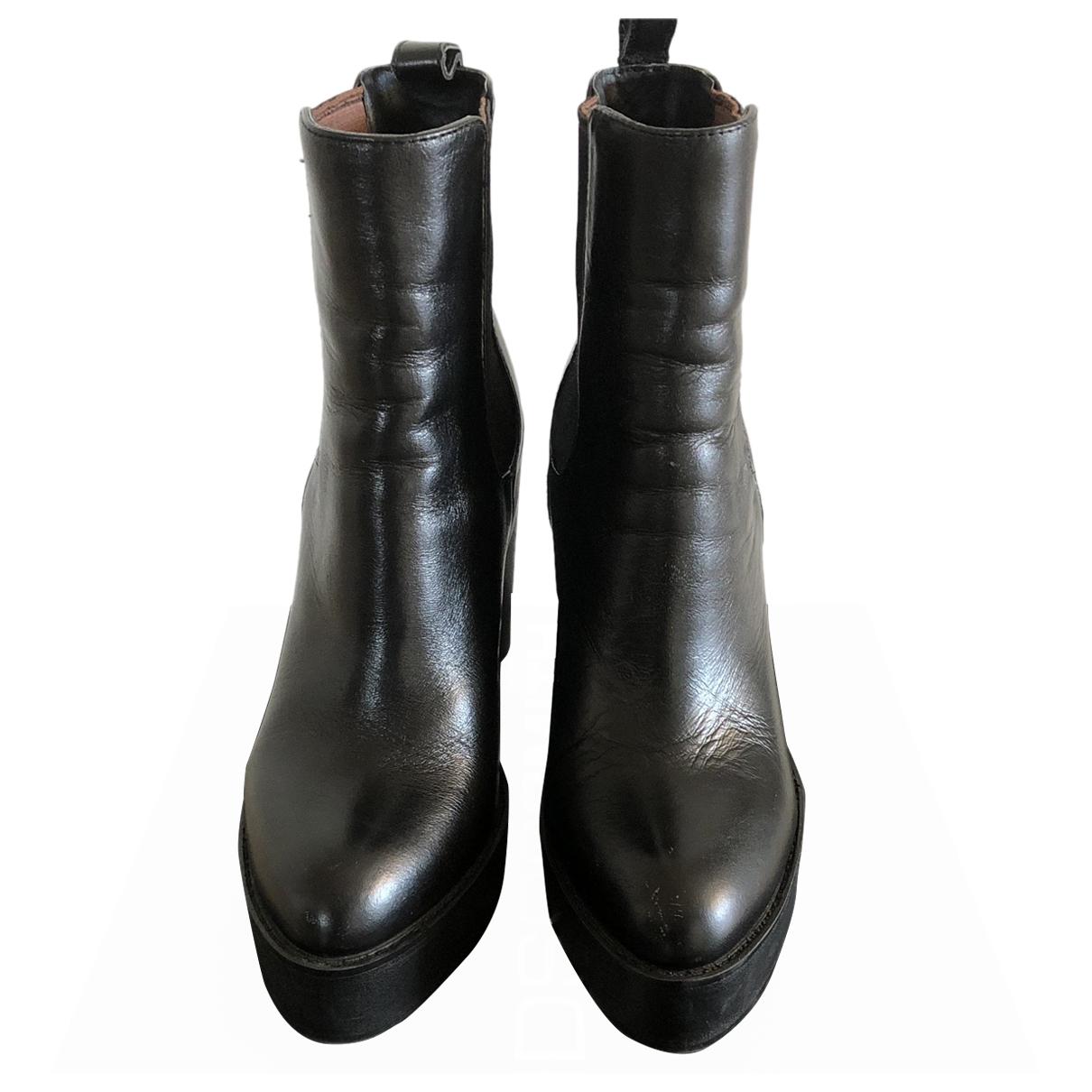 Windsor Smith - Boots   pour femme en cuir - noir