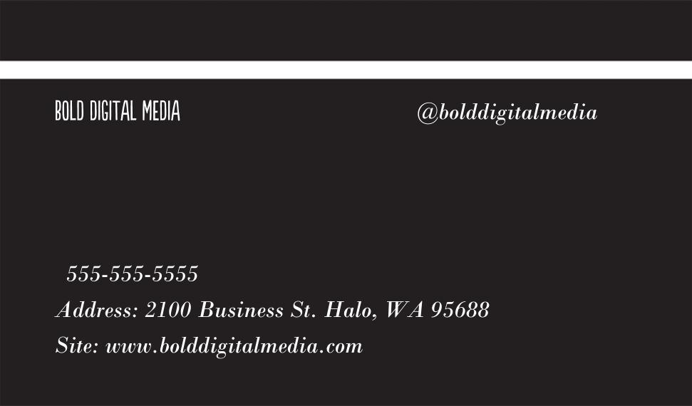 Arts & Media Business Cards, Set of 40, Card & Stationery -Bold Shapes
