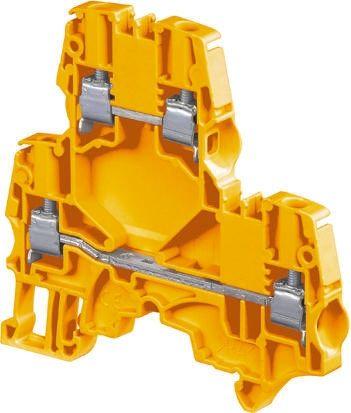 Entrelec ATEX, ZS4-D2, 800 V ac Double Level Terminal Block, Screw Termination, Orange (5)