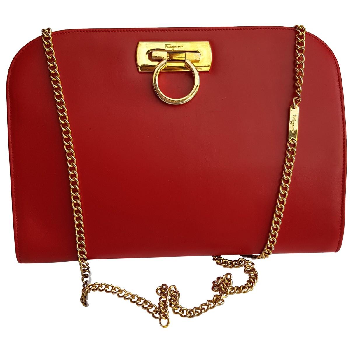 Salvatore Ferragamo Sofia Red Leather handbag for Women N
