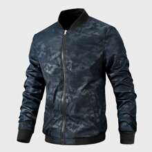 Bomber Jacke mit Camo Muster