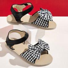 Kleinkind Maedchen Sandalen mit Schleife Dekor und Knochelriemen