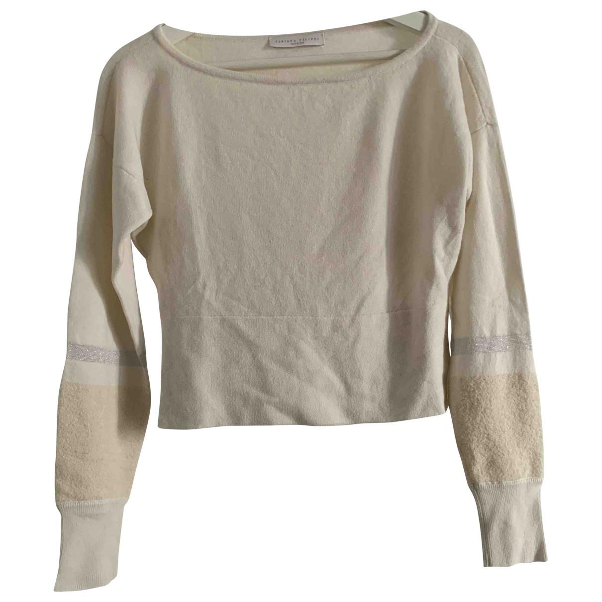 Fabiana Filippi - Pull   pour femme en laine - blanc