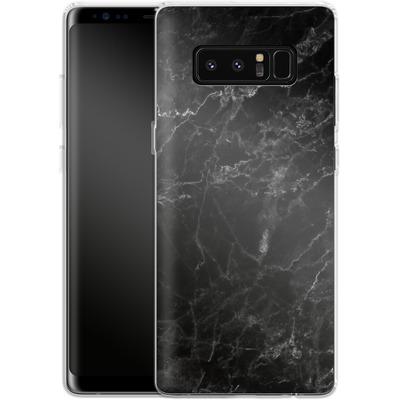 Samsung Galaxy Note 8 Silikon Handyhuelle - Midnight Marble von caseable Designs