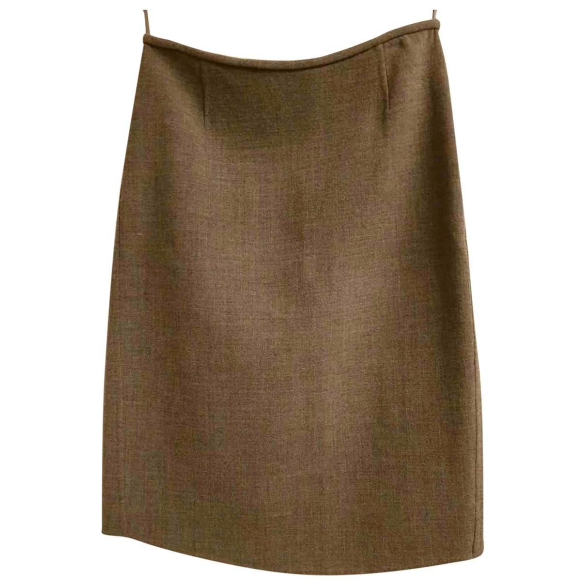 Prada \N Grey Wool skirt for Women 42 IT
