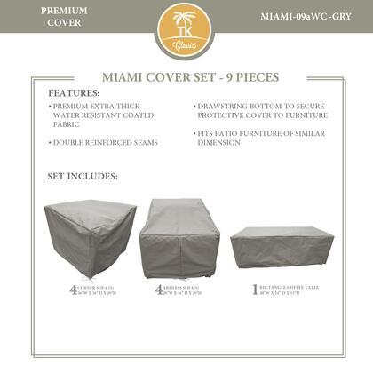 Miami MIAMI-09aWC-GRY MIAMI-09a Protective Cover Set in