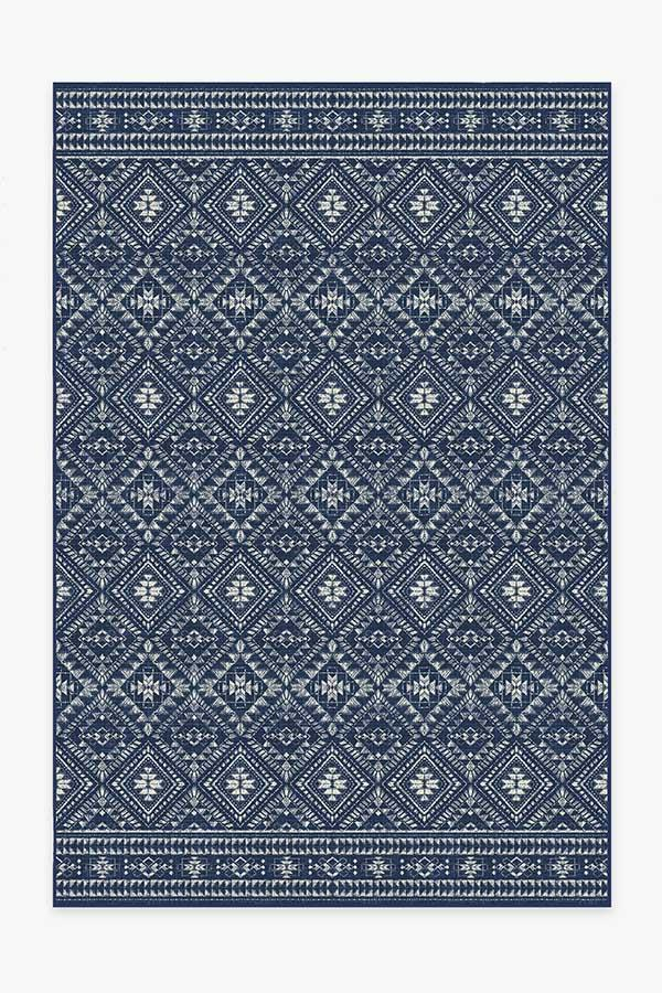 Washable Rug Cover | Outdoor Nomada Navy Rug | Stain-Resistant | Ruggable | 6'x9'