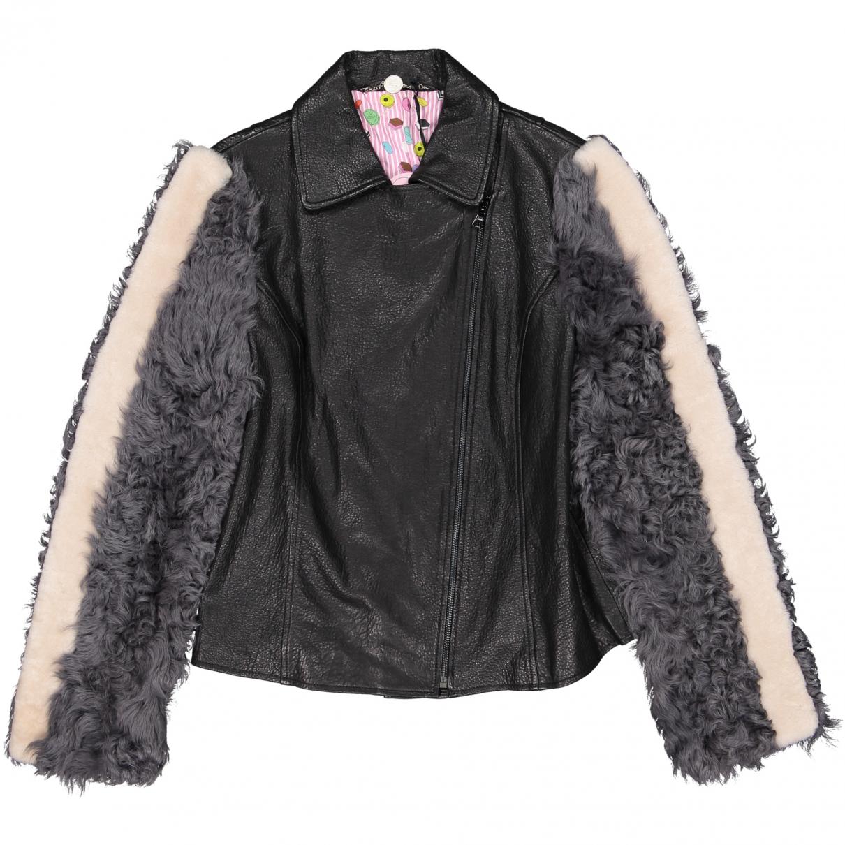 Charlotte Simone \N Black Leather jacket for Women L International