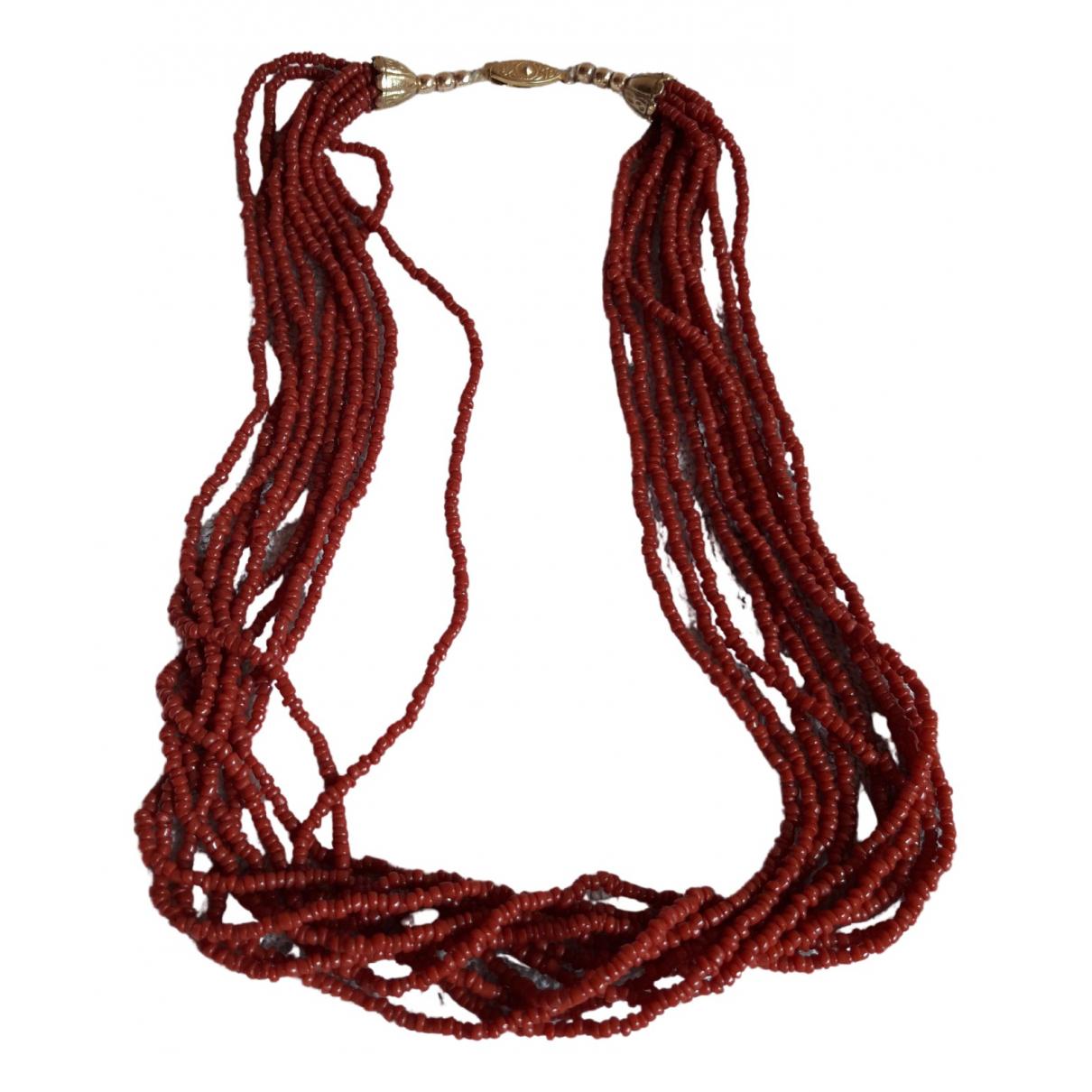 - Collier Corail pour femme - rouge