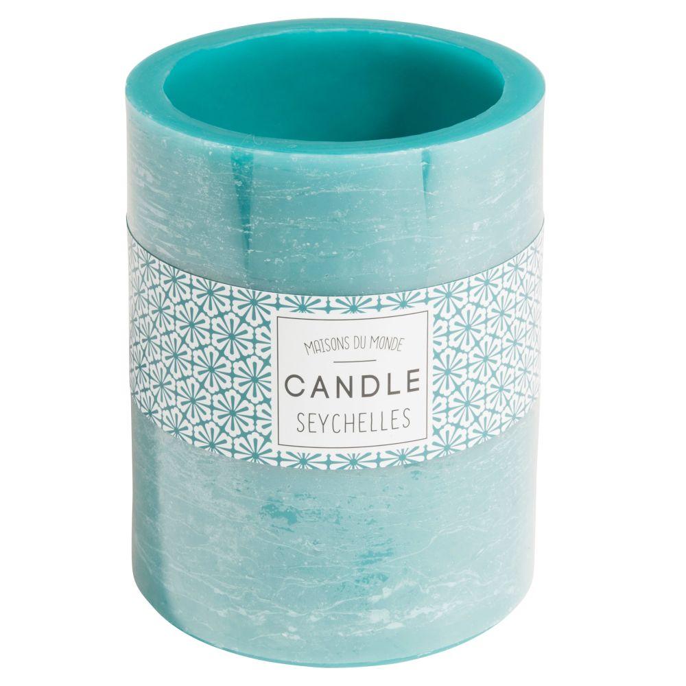 Kerzenlaterne blau H 12 cm
