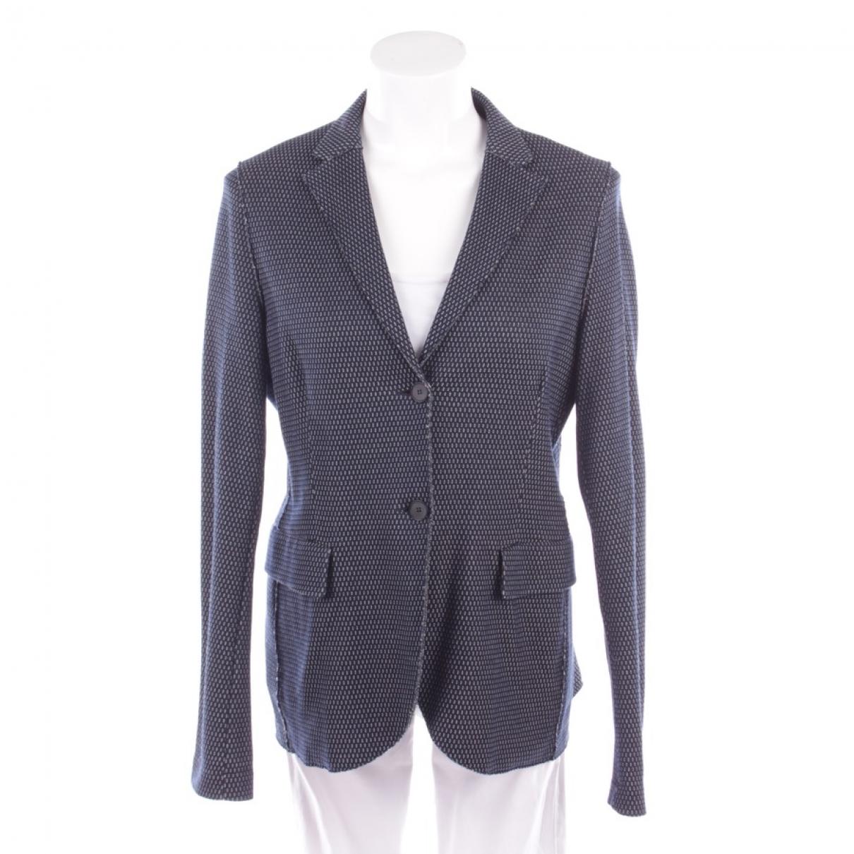 Harris Wharf London \N Blue Cotton jacket for Women M International