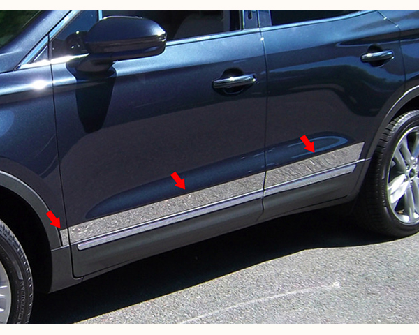 Quality Automotive Accessories 6-Piece Stainless Steel Rocker Panel Trim Lincoln MKC 2015