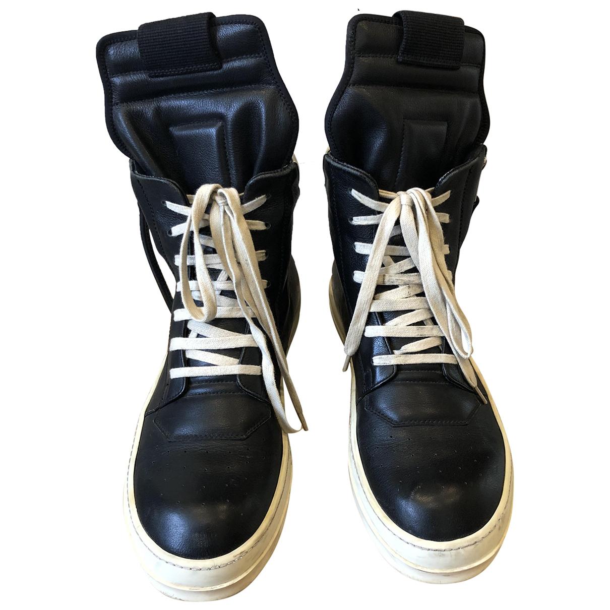 Rick Owens Drkshdw \N Black Leather Trainers for Men 43 EU